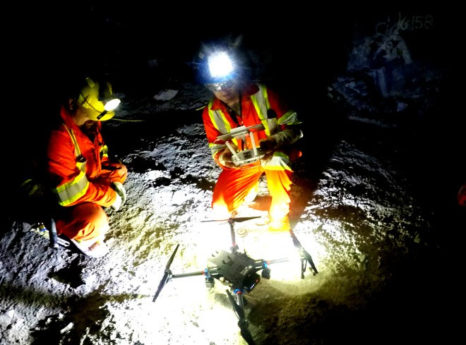 SafeSight Exploration of North Bay is working on technology that would allow drones to fly underground to examine mine cavities. (SafeSight photo)