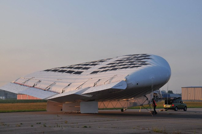 Brantford's Solar Ship flight-tests its aircraft at the city's airport