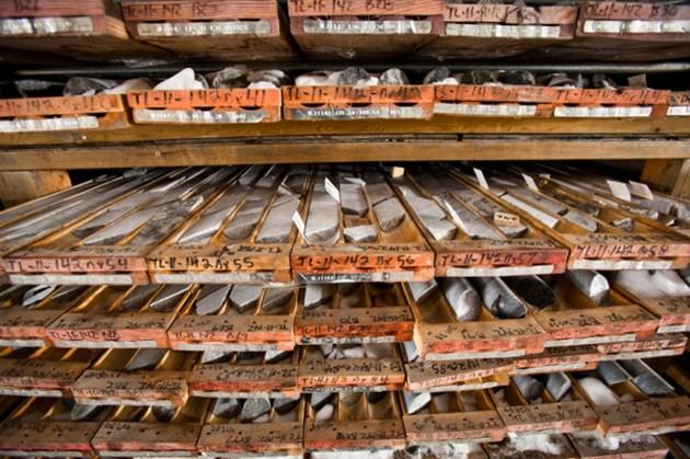 Treasury Metals core rack