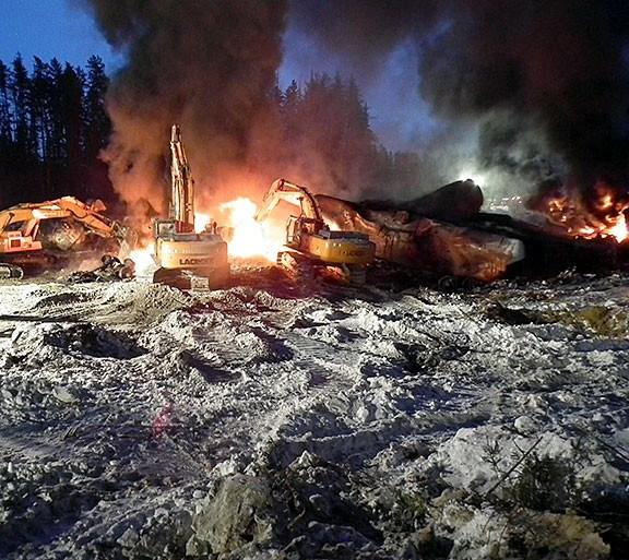 TSB Feb. 14 Gogama derailment