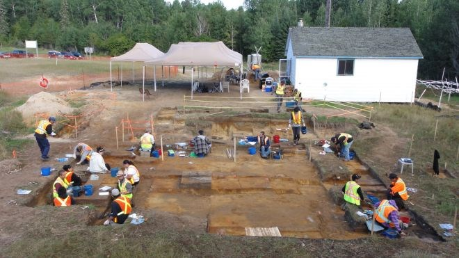 A Stage 4 archaeological assessment conducted by Woodland Heritage Services south of Timmins. Woodland Heritage photo