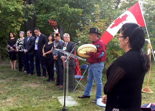 Federal funding of $5.1 million for the Anishinabek Discovery Centre was announced on Friday, Sept. 15, 2017. (David Helwig photo)