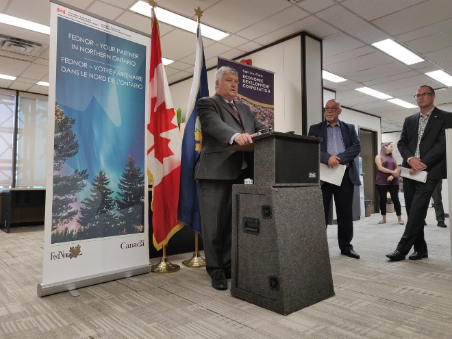 On July 29, Sault MP Terry Sheehan  announced $785,740 for the Sault Ste. Marie Economic Development Corp. to help local companies bid on defence-related contract work. (Supplied photo)