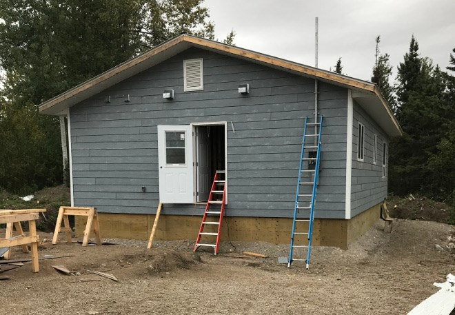 As part of the learning experience, students put their new skills to work building a house. (Supplied photo)