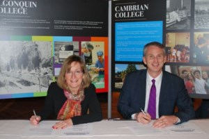Cambrian, Algonquin join forces for Indigenous education