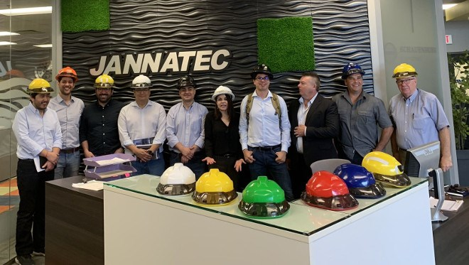 A delegation from Chile's Codelco – the world's largest copper mining company – is visiting Sudbury Aug. 5-9 to learn about the city's mining expertise. Jannatec manufactures wearable devices designed to help enhance a miner's health and safety. (Twitter photo)