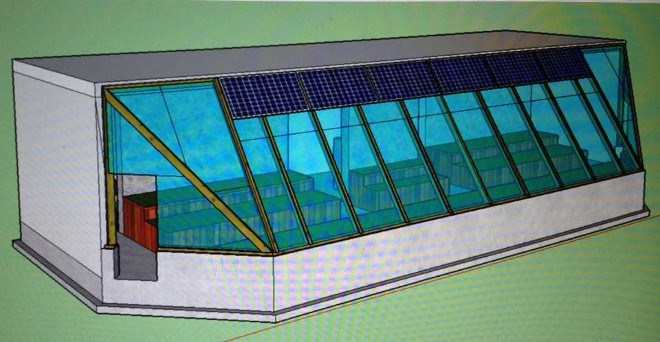 A digital rendering of what the Wikwemikong High School greenhouse may look like when construction is completed.