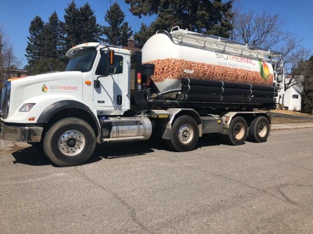 Wood pellet truck