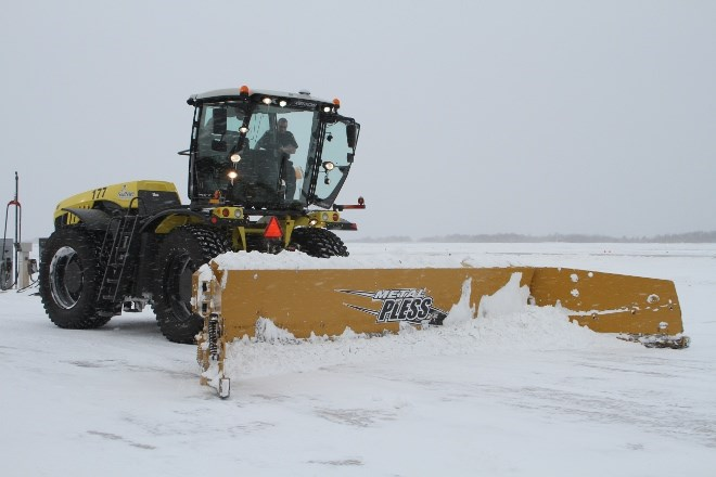 The Eagle‐CLAAS Xerion 5000 tractor is the latest edition to the Greater Sudbury Airport as part of the snow removal system to keep the airport running efficiently.