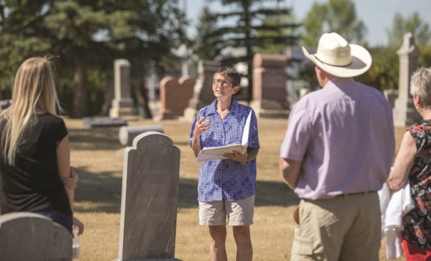 Karen Peters cemetery tour