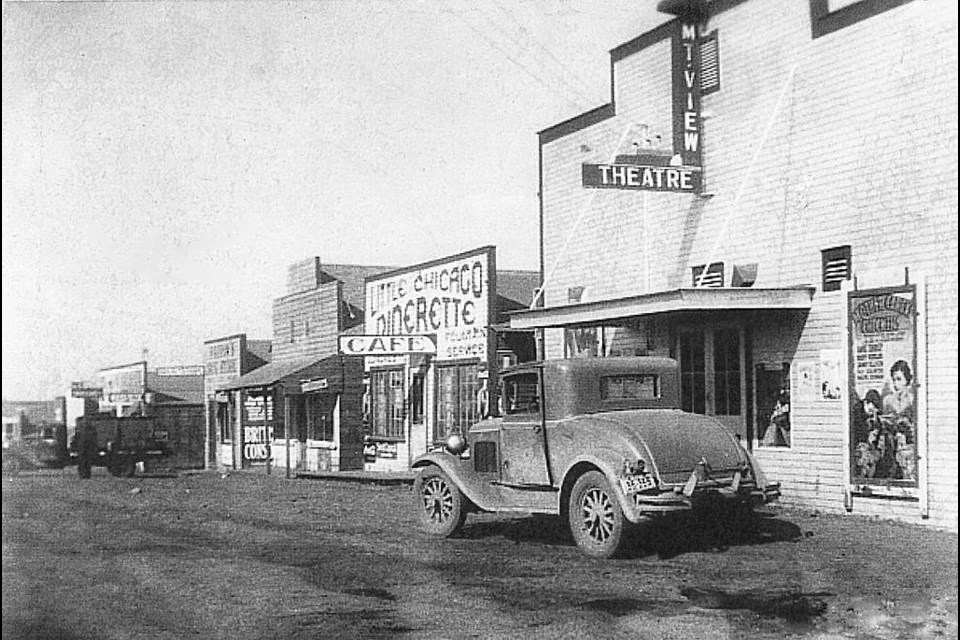 The Mt. View Theatre served as a popular hangout in the Royalites in 1938. (Photo Submitted)