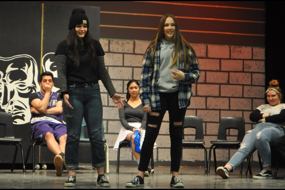Actors practised Sunday for their upcoming production of High School Musi-pocalypse. Andrew Philips/OrilliaMatters