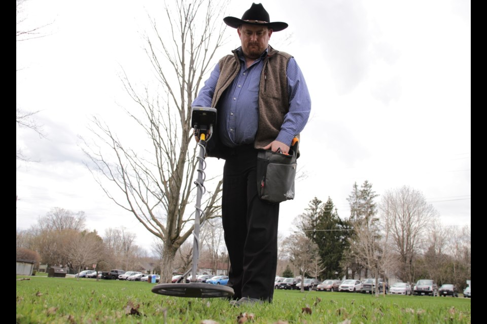 Jeremiah Bowes took up metal detecting as a hobby two years ago. Mehreen Shahid/OrilliaMatters