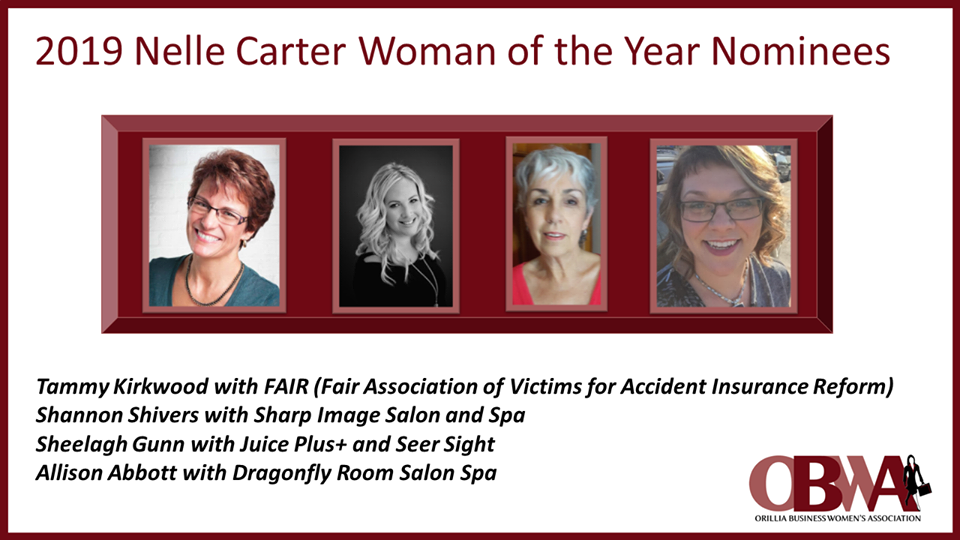 Four local residents have been nominated for the 2019 Nelle Carter Woman of the Year award.