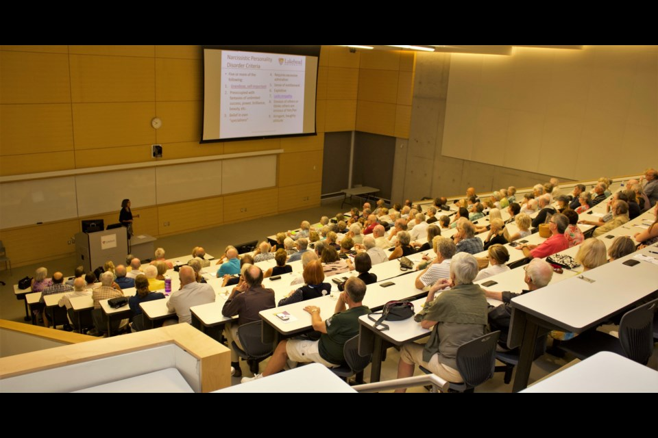 It was a packed lecture hall at Lakehead University this week for the launch of a new chapter of Third Age Learning. Jaclyn Bucik photo
