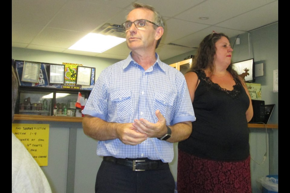 The Orillia and District Literacy Council (ODLC) celebrated our seventh annual Feast for Learning in early September. Above are Simcoe North MP Bruce Stanton and ODLC staffer Cathy Graham. Contributed photo