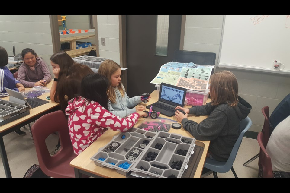 Patrick Fogarty Robotics Academy students are shown working on a project. Supplied photo
