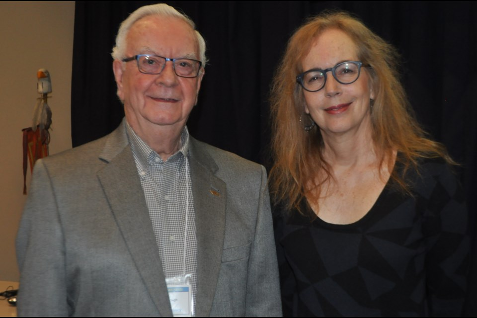 Playwright Catherine Frid and John McCullough participated in Wednesday's 26th annual Suicide Awareness Conference Simcoe Muskoka near Orillia. Andrew Philips/OrilliaMatters