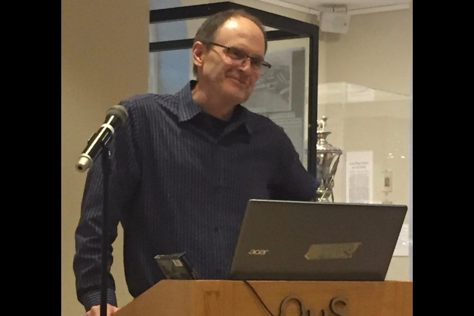 Guest Speaker, Dr. Chris Decker, spoke about legendary pianist Glenn Gould's connection to the area at the recent History Speakers Evening at the Orillia Museum of Art and History.