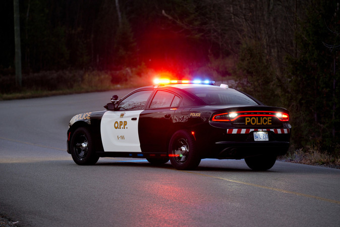 Driver charged with impaired after leaving Belwood ball diamond