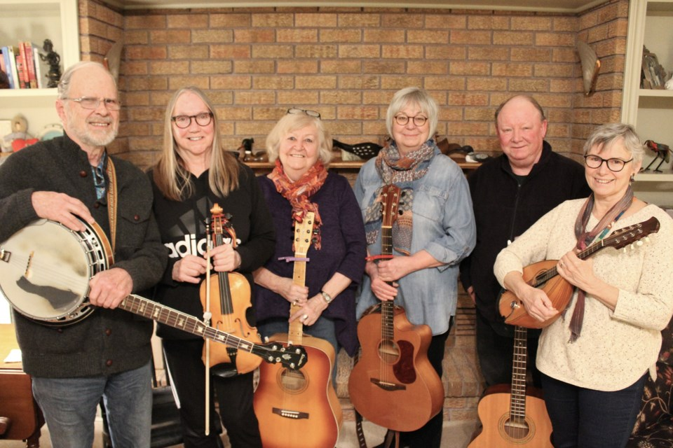 Alex includes, from left, Gord Ball, Fay MacKenzie, Pauline Gordon, Margaret Pomeroy, Brad Emmons and Susan Charters. Absent: Don Evans and Alan Cooper. Nathan Taylor/OrilliaMatters