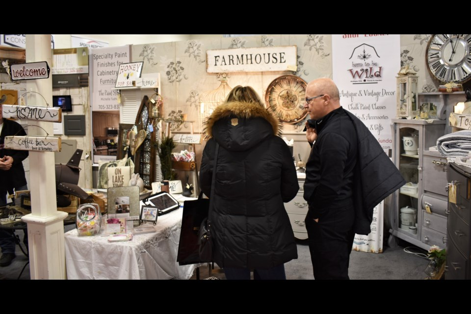 There was lots to see at the Barn to be Wild booth - one of 82 at this weekend's Simcoe Spring Home and Cottage Show at the Barnfield Point Recreation Centre. Dave Dawson/OrilliaMatters