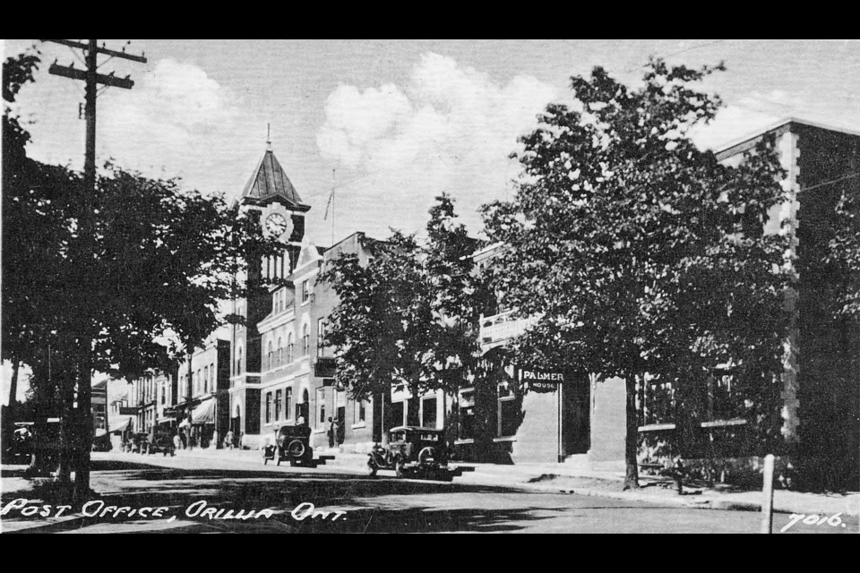 This is a postcard of the old post office, circa 1930. The building is now the Orillia Museum of Art and History.