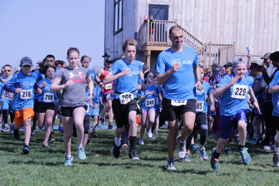 The 5k run, open to all ages, was equally popular among runners Saturday. Mehreen Shahid/OrilliaMatters