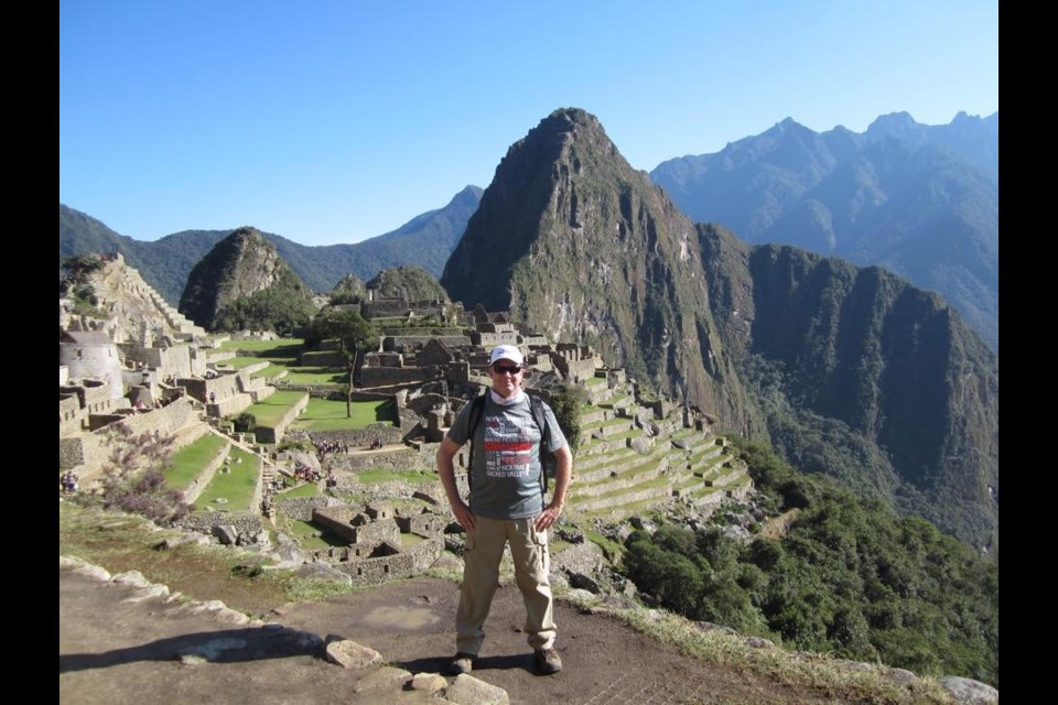 Orillia real-estate agent Mike Stahls is shown during a fundraising trip in Machu Picchu in 2015. Supplied photo