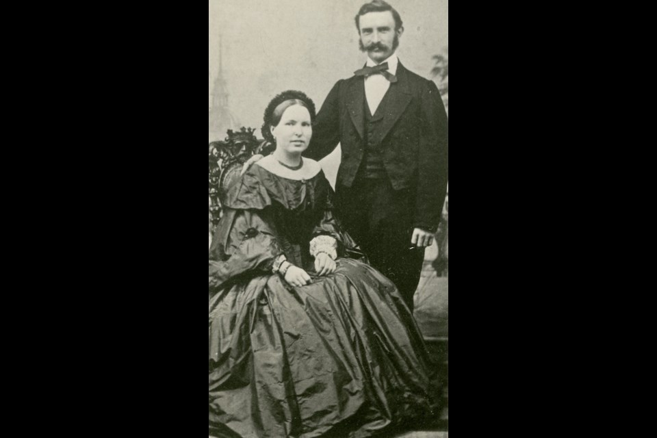 Kathinka and Adelbert Lehmann. Photo courtesy of the Orillia Museum of Art and History