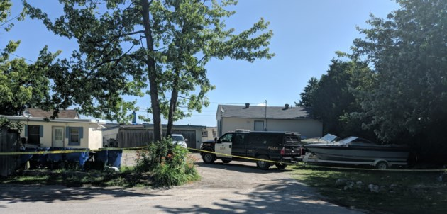 crime scene at cedar island road