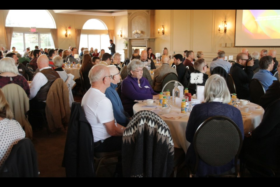 More than 200 people attended the 2nd annual Lake Country Prayer Breakfast at Hawk Ridge Golf and Country Club. Mehreen Shahid/OrilliaMatters