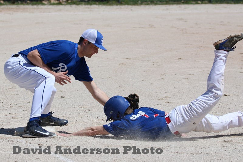 The Orillia Royals' bats exploded and their defence was solid in a 15-2 romp over Mansfield. David Anderson Photo