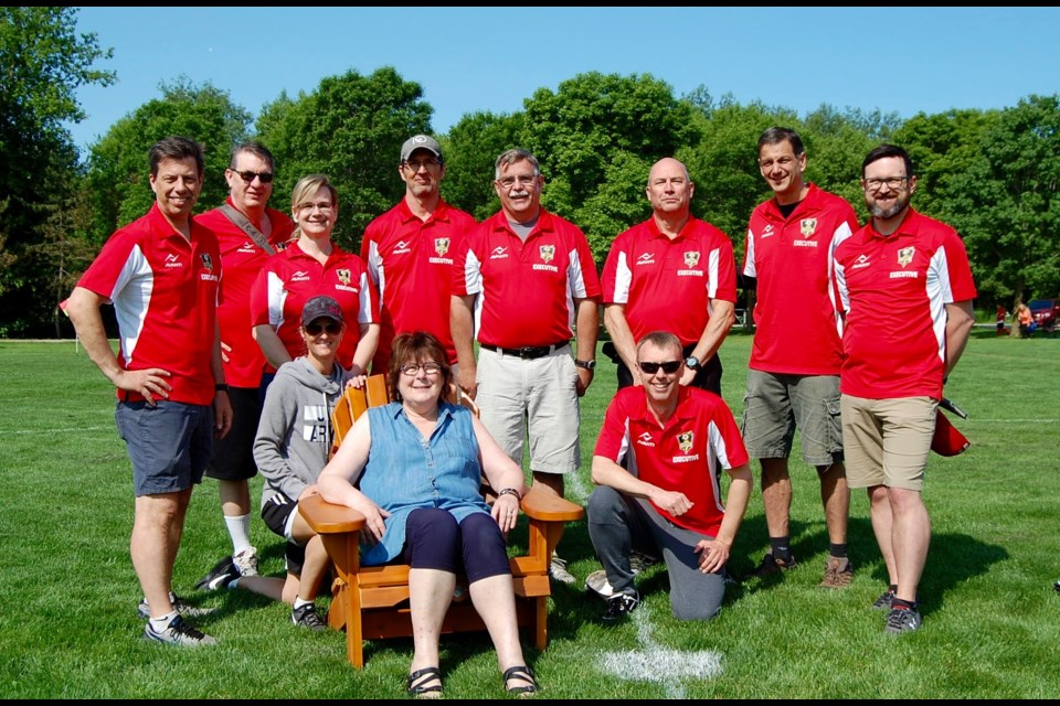 Isobel Hill, a volunteer for more than 30 years, was recognized recently by the Orillia and District Soccer Club.  Contributed photo