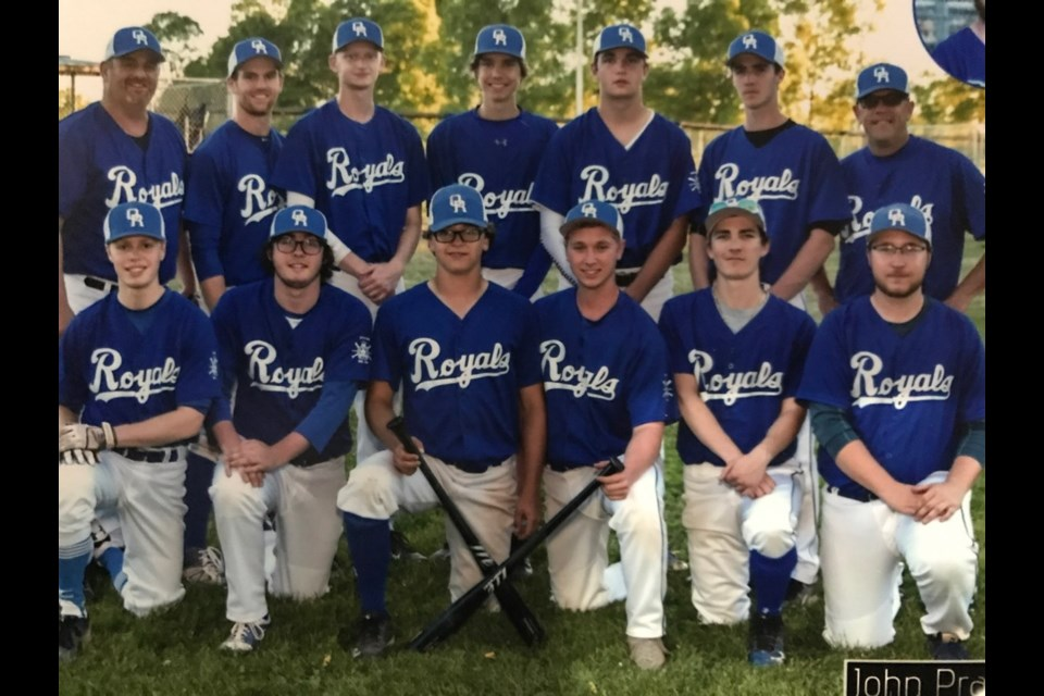 The Orillia Juniors team of 2018 was the first junior team in the city in several years. Back row, from left: Head coach Mike Provenzano, Cam Provenzano, Brett Provenzano, Chris Nicolle, Oliver Zanello, Cole Mawdsley and assistant coach Chris Woodman. Bottom: Spencer Wilson, Bill Forbes, Matt Marshall, Cade Lafrance, Tanner Woodhouse and Rory Bulmer. Absent from photo: Ethan Shirk