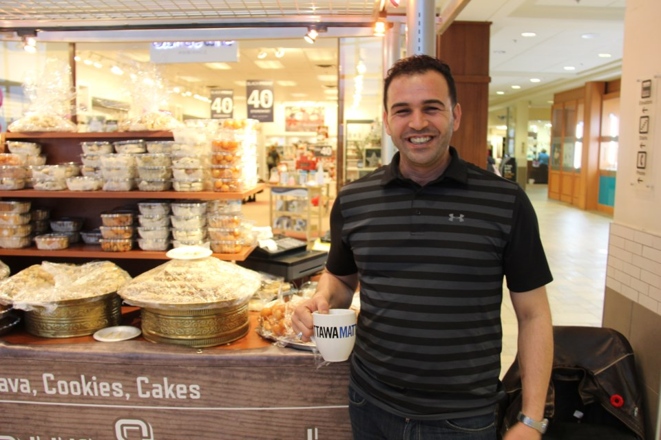 Aeman Alkadour launched his pastry business in Billings Bridge Shopping Centre in October. Alex Robinson/OttawaMatters.com