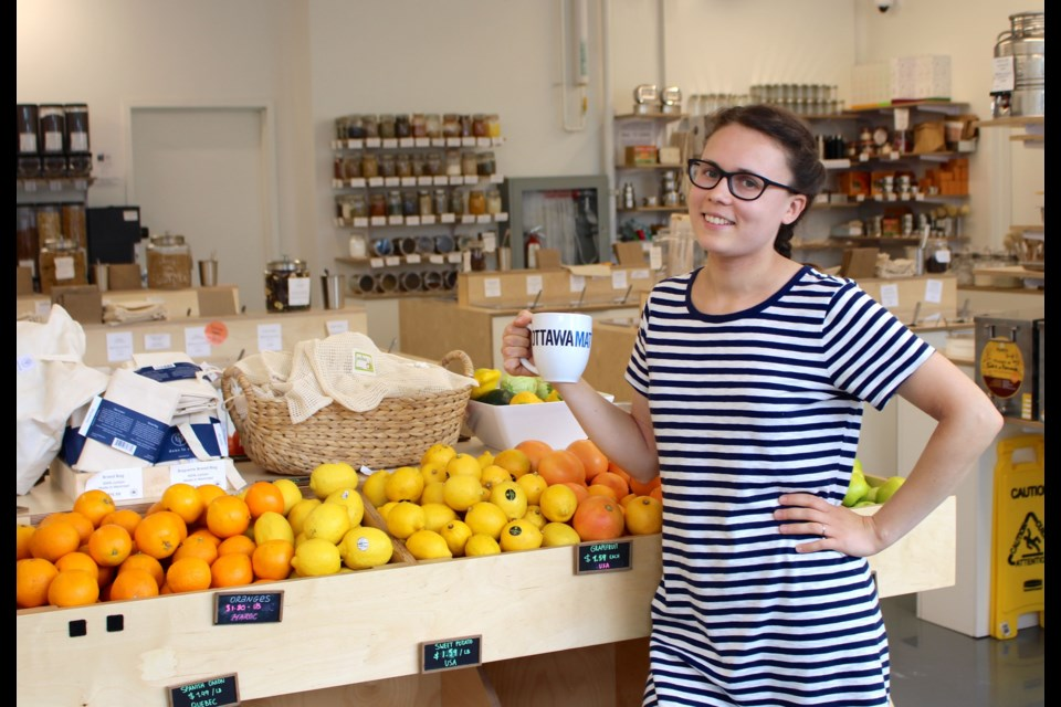 Nu Grocery, Ottawa's first zero waste grocery store, opened in Hintonburg in August 2017. Co-founder Sia Veeramani said the neighbourhood has been faster than anticipated to adopt the concept. Drew May/ OttawaMatters.com
