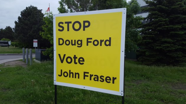 Liberal Campaign Puts Up Stop Doug Ford Signs In Citys South End