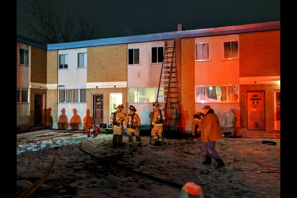 Townhomes scorched by fires on Moorvale Street. Dec 6, 2018/Scott Stilborn