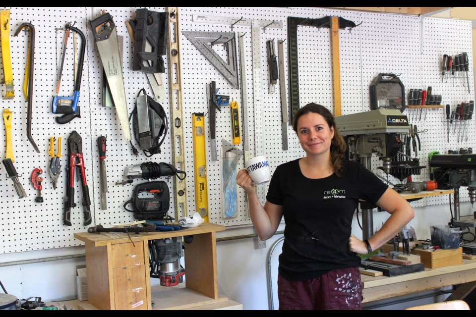Heather Jeffery, the owner of Re4m, creates everything from furniture to museum exhibits and decorations out of discarded construction materials and other waste.