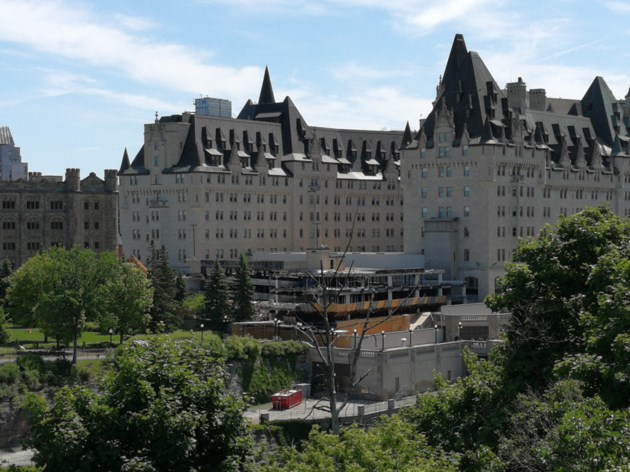 chateau laurier rear view