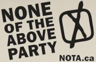 None of the Above Party. Photo/ NOTA.ca
