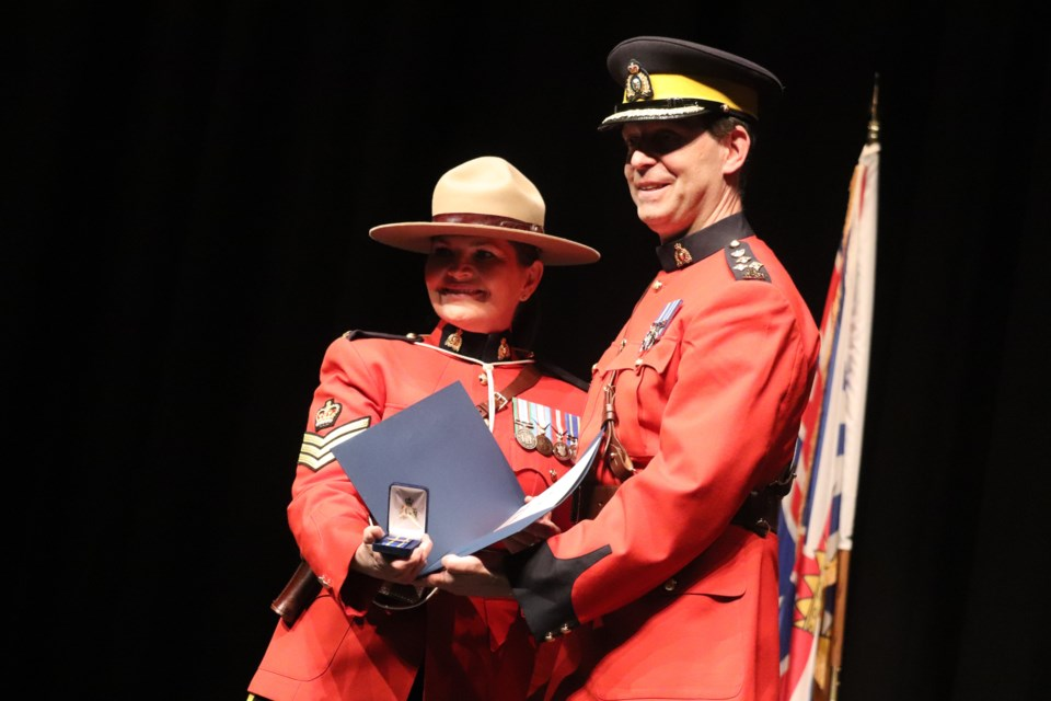 Sergeant Holly Lavin was recognized for the G7 Summit and the Over 25 Years of Service Award. (via Jessica Fedigan)