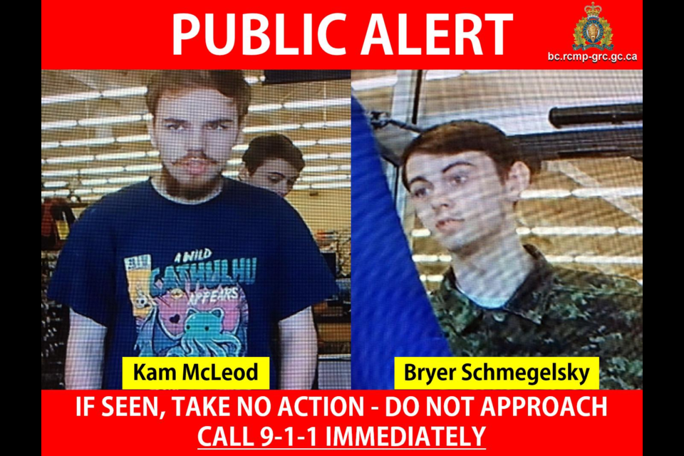 Northern B.C. deaths: 2 teens thought to be missing now suspects