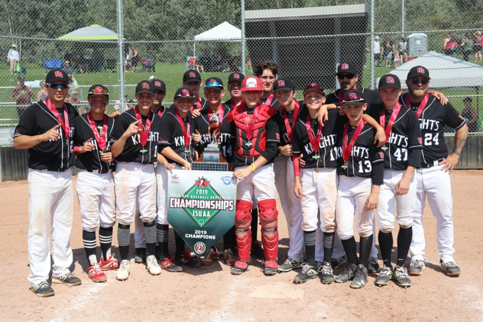 The Prince George Bantam AA Knights are the 2019 B.C. Minor Baseball champions (via Kyle Balzer)