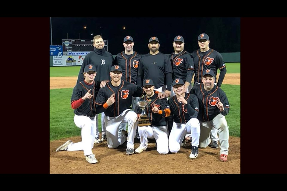 The Orioles were the 2018 champions of the Prince George Senior Men's Baseball League (via Facebook/PGSBL)