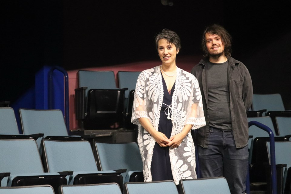 Theatre NorthWest General Manager Marnie Hamagami (left) with Weird Organizer Isaak Andal (via Kyle Balzer)