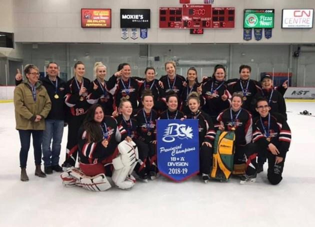 Prince George Ringette - 18plus provincial champions 2019