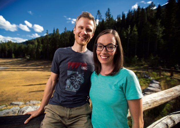 Ryan Correy and wife Sarah Hornsby in Canmore.