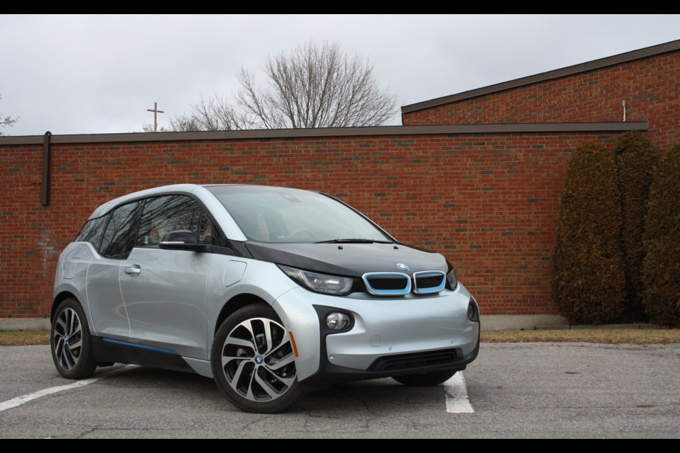 The 2015 BMW i3 boasts a very distinctive style. Credit Michel Deslauriers